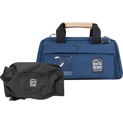 Porta Brace CS-DV2 Mini DV Camera Case with Mini-Quick Slick Rain Cover (Blue)