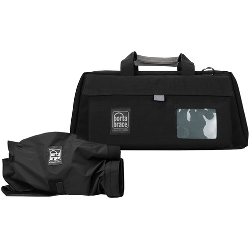 Porta Brace CS-DV3RQS-M3 Mini-DV Camera Case w/ QS-M3 Quick Slick (Black with Copper String)