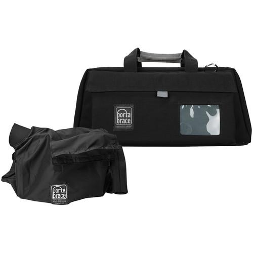 Porta Brace CS-DV3RQS-M4 Mini-DV Camera Case w/ QS-M4 Quick Slick (Black with Copper String)