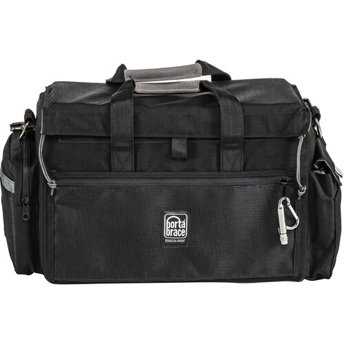Porta Brace DV Organizer Case with QS-M3 Mini Rain Slick (Black with Copper Trim)