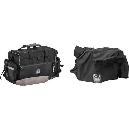 Porta Brace DV Organizer Case with QS-M4 Mini Rain Slick (Black with Copper Trim)