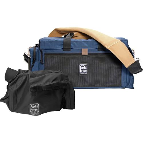 Porta Brace DV Organizer Case with QS-M4 Mini Rain Slick (Signature Blue)