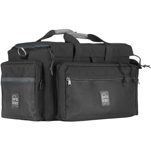 Porta Brace DVO2R-QS-M3 DV Case with QS-M3 Quick Slick Mini Rain Cover (Black with Copper Trim)