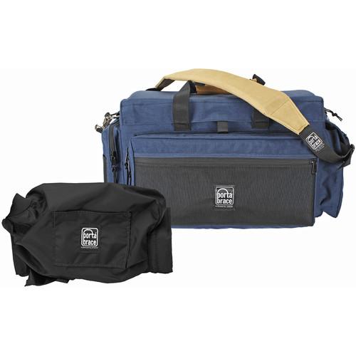 Porta Brace DVO2U-QS-M4 DV Case with QS-M4 Quick Slick Mini Rain Cover (Signature Blue)