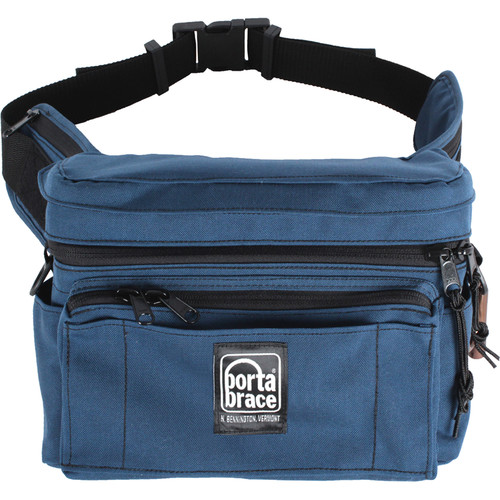 Porta Brace HIP-3 Hip Pack for Small Camcorders and Accessories (Large, Signature Blue)