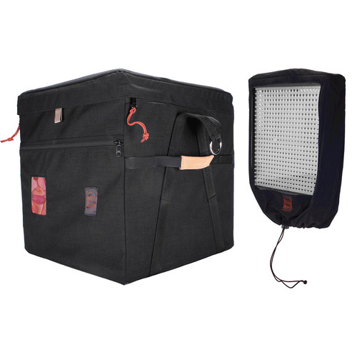 Porta Brace LPB-LED4 Carrying Case for 4 Litepanels 1X1 Lights (Midnight Black)