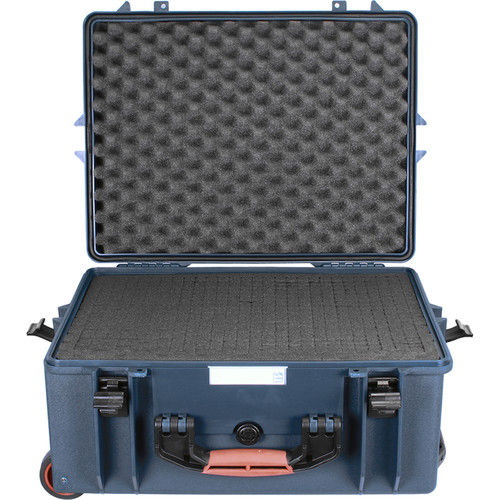 Porta Brace PB-2650F Wheeled Hard Case with Foam Interior (Blue)