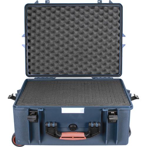 Porta Brace PB-2650F Wheeled Hard Case with Foam Interior (Blue)