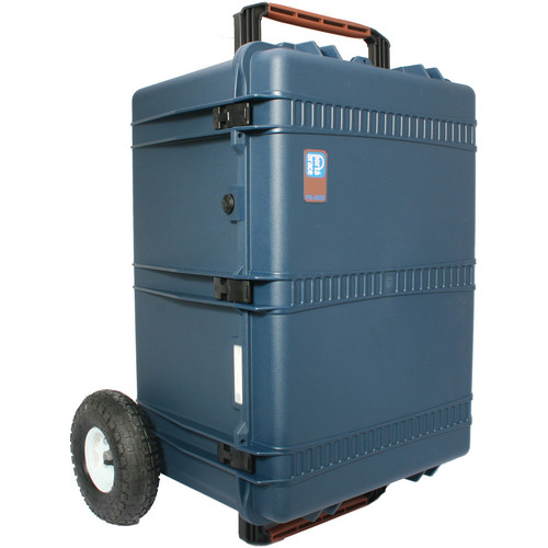Porta Brace PB-2850FORX Hard Case with Foam Interior and Extreme Off-Road Wheels (Blue)