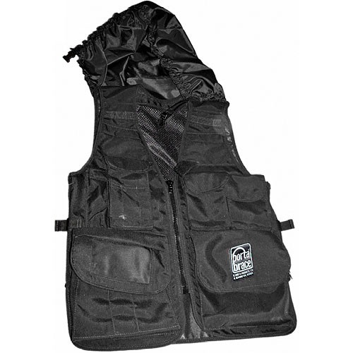 Porta Brace Video Vest with Hood (Medium, Black)