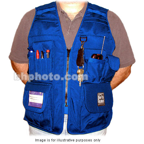 Porta Brace VV-M Videographer Vest (Large, Blue)