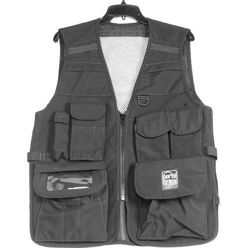Porta Brace VV-M Videographer Vest (Medium, Black)