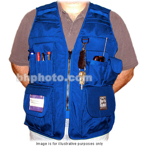 Porta Brace VV-M Videographer Vest (Medium, Blue)