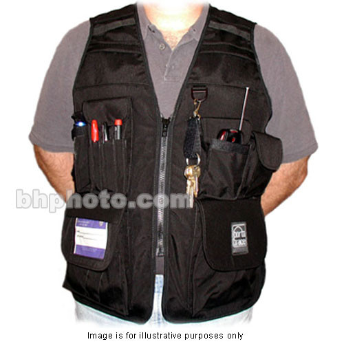 Porta Brace VV-M Videographer Vest (Small, Black)