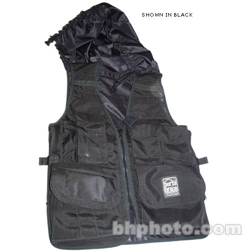 Porta Brace Video Vest with Hood (X-Large, Blue)