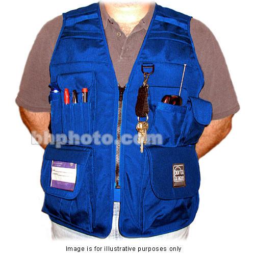 PortaBrace VV-M Videographer Vest (Extra Large, Blue)