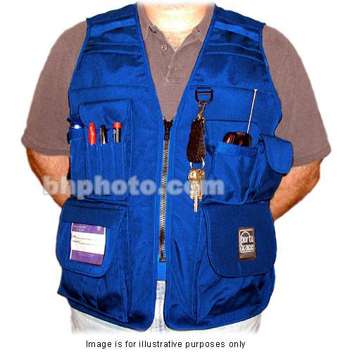 Porta Brace VV-M Videographer Vest (Extra Extra Large, Blue)