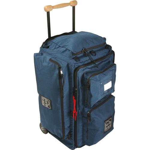 Porta Brace WPC-2OR Medium Wheeled Production Case (Signature Blue with Orange Highlights)