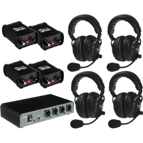 PortaCom COM40FCC - 4 Headset Wired Intercom with Cables