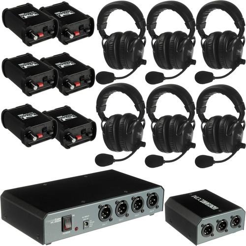 PortaCom COM60FCC 6 Headset Intercom System with Cables