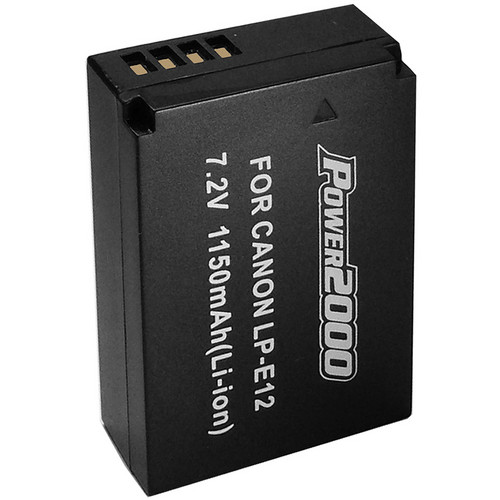 Power2000 LP-E12 Rechargeable Battery for Canon EOS M Cameras