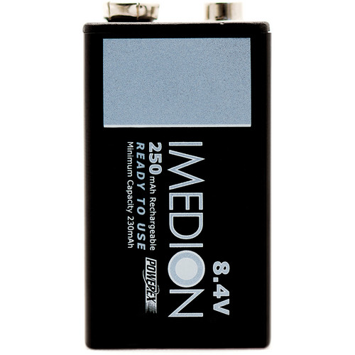 "Powerex MHR84VI IMEDION ""Ready When You Are!"" Rechargeable NiMH Battery (8.4V, 250mAh)"