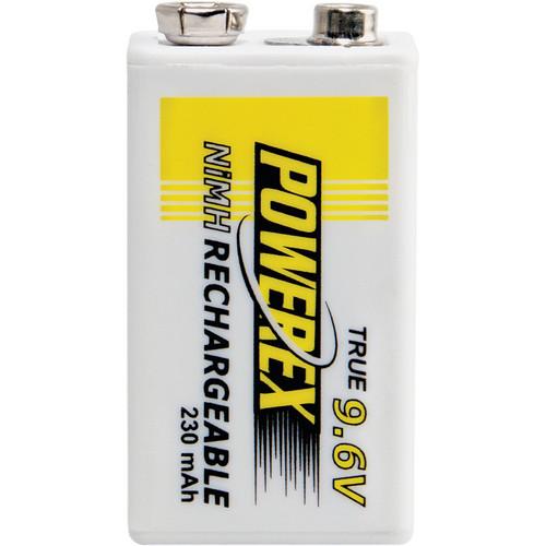 Powerex MHR9V Rechargeable NiMH Battery (9.6V, 230mAh)