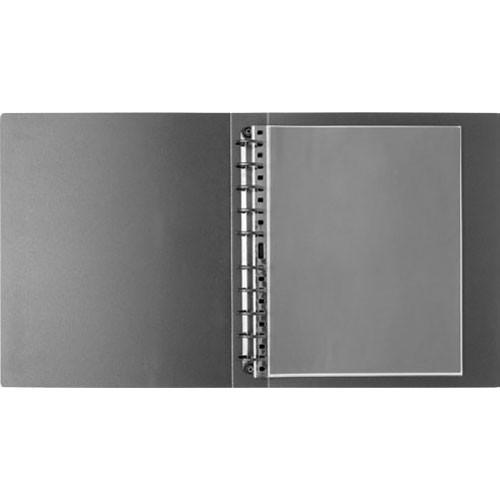 "Prat Multi-Ring Binder HBPR-22  with Rigid Foam Cover - 17 x 22"" (Black)"