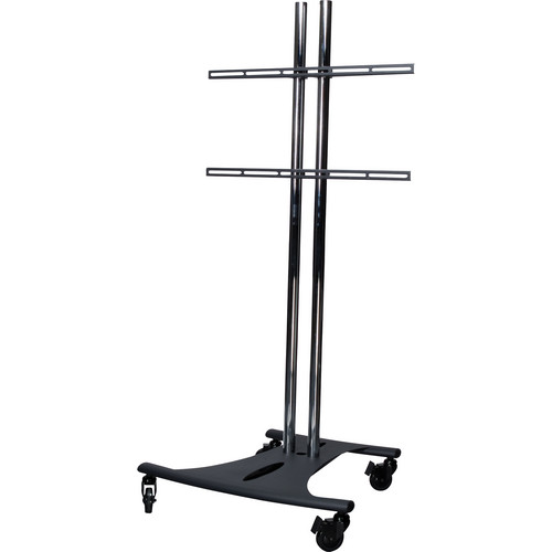 Premier Mounts EBC72-UFA Elliptical Floor Stand with Flat Mount For Carts and Stands (Includes PSD with EB72C and UFA Fixed Mount ( Black Mount and Stand)