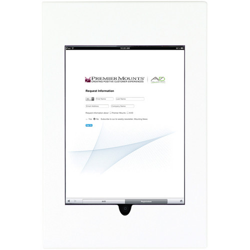 Premier Mounts IPM-710 iPad Mounting Frame (White)