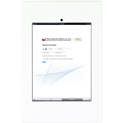 Premier Mounts IPM-720 iPad Mounting Frame (White)