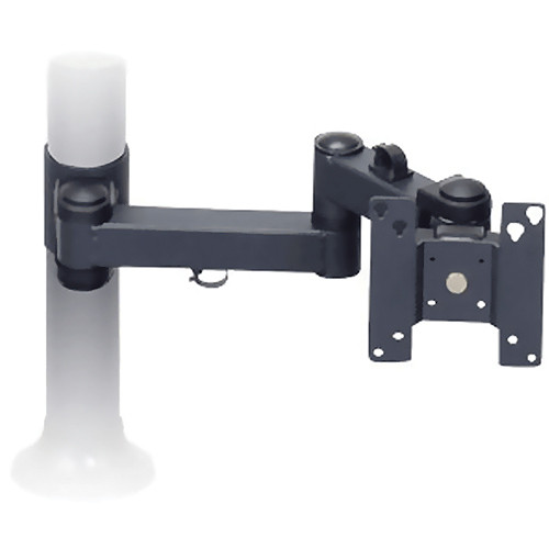 "Premier Mounts MM-AH151 Single Display Articulating Arm on 15"" Tube with Grommet Base"