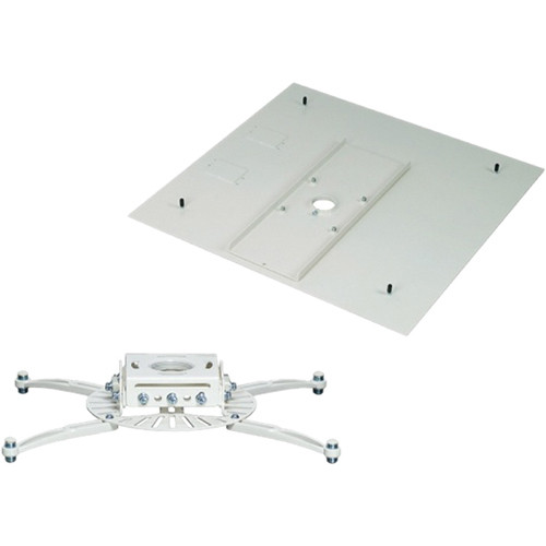 Premier Mounts PDS Universal Projector Mount with False Ceiling Adapter (White)