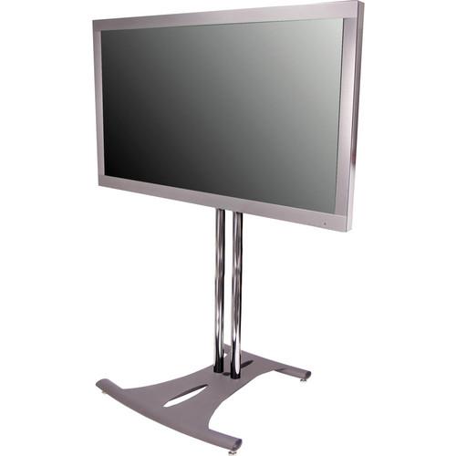 "Premier Mounts PSD-EB84B  Elliptical Floor Stand for Flat Panel Displays (84"" Black Poles)"