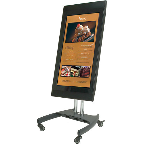 Premier Mounts Model PSD-VPS, Low Profile Mobile Cart with 360 Degree Screen Rotation