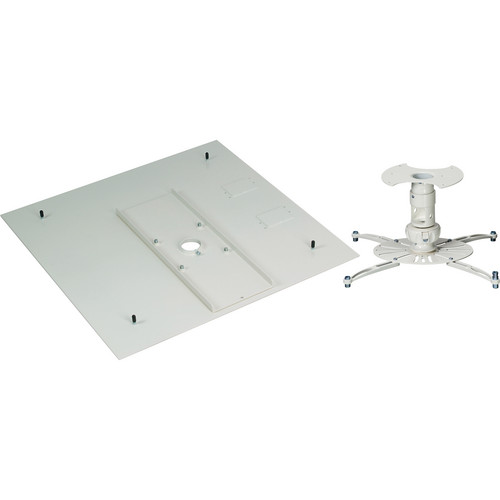 Premier Mounts Universal Projector Ceiling Mount (Up to 45 lbs - White)
