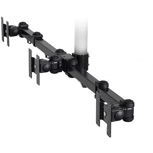 Premier Mounts Triple Display Articulating Arm (Black)