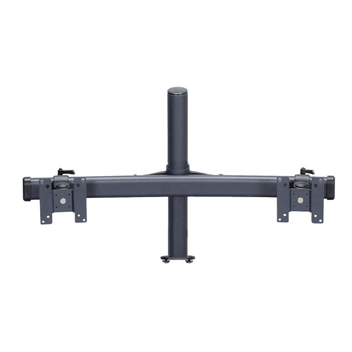 "Premier Mounts MM-BE152 Dual Monitor Curved Bows on 15"" Pole with Extrusion Base"