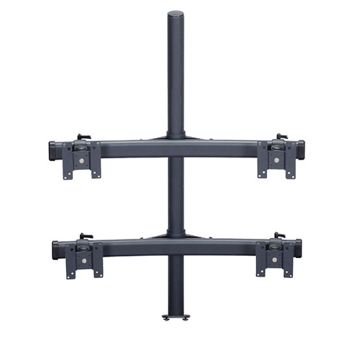 "Premier Mounts MM-BE284 2 Dual Monitor Curved Bows on 28"" Pole with Extrusion Base"