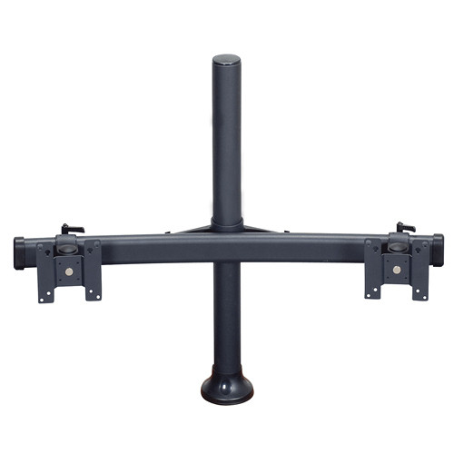 "Premier Mounts MM-BH152 Dual Monitor Curved Bow on 15"" Tube with Grommet Base"
