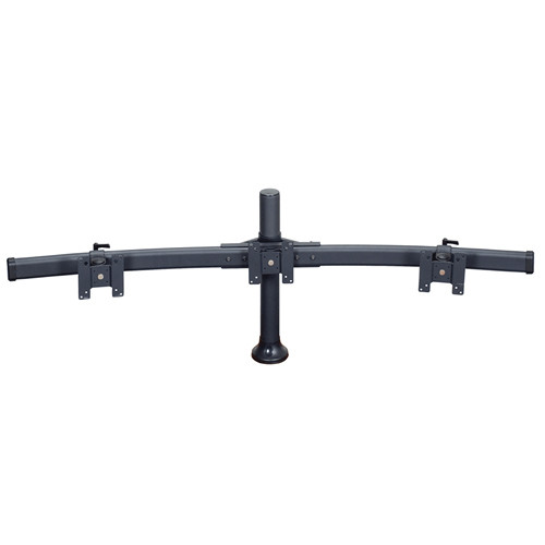 """Premier Mounts MM-BH153 Triple Monitor Curved Bow on 15"""" Tube with Grommet Base"""