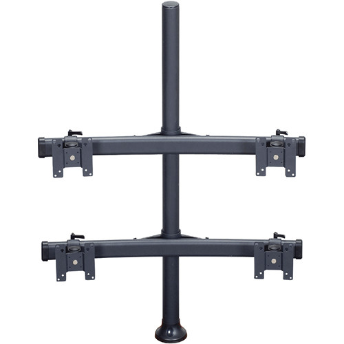 "Premier Mounts MM-BH284 2 Dual Monitor Curved Bows on 28"" Pole with Grommet Base"