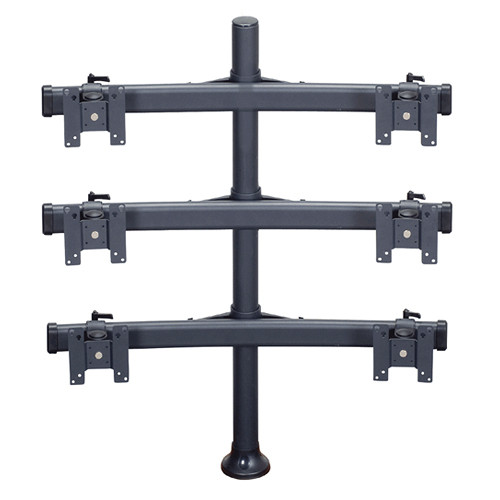 "Premier Mounts MM-BH426 3 Dual Monitor Curved Bows on 42"" Pole with Grommet Base"