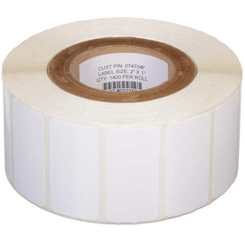 "Primera White TuffCoat High-Gloss 2 x 1""  Printable Labels for the LX400"