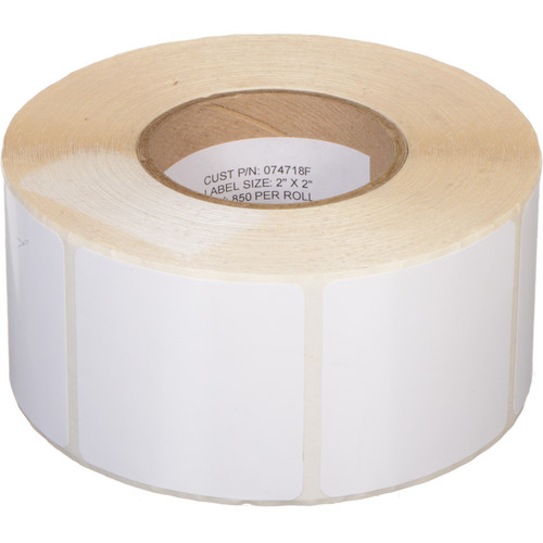 """Primera White TuffCoat High-Gloss 2 x 2""""  Printable Labels for the LX400"""