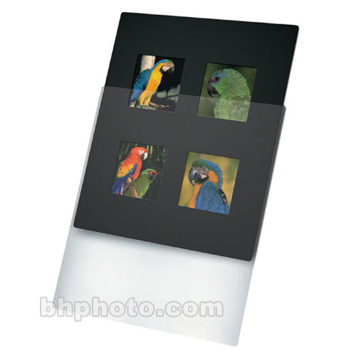 "Print File Overmat - 8 x 10"" - Holds Four 6x6cm Transparencies - 10 Pack"