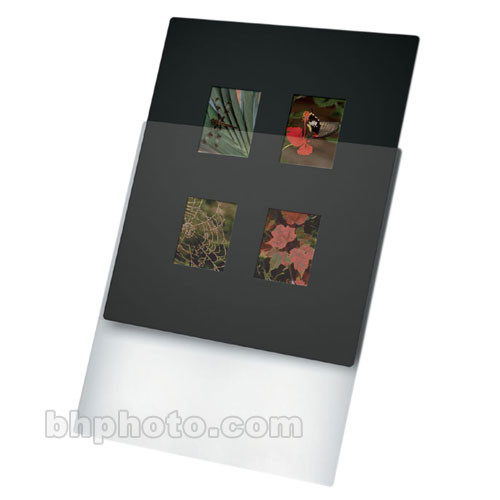 "Print File Overmat - 8 x 10"" - Holds Four 6x4.5cm Transparencies - 10 Pack"