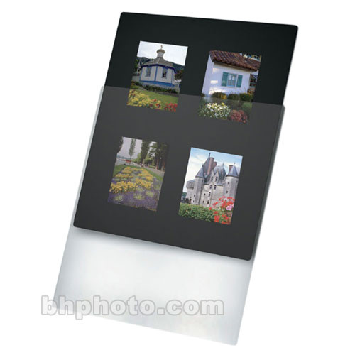 "Print File Overmat - 8 x 10"" - Holds Four 6x7cm Transparencies - 10 Pack"