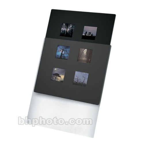 "Print File Overmat - 11 x 14"" - Holds Six 6x6cm Transparencies - 10 Pack"