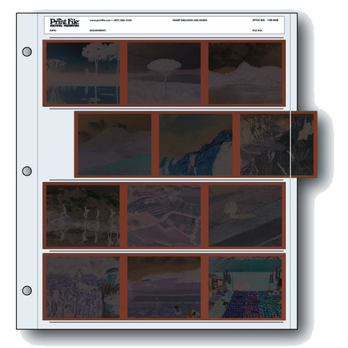 Print File Archival Storage Page for Negatives, 6x7cm - 100 Pack